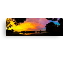 Sunset over Lake Zapper Canvas Print