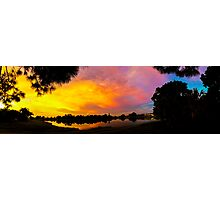 Sunset over Lake Zapper Photographic Print