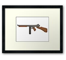 Pixel Thompson Gun Framed Print