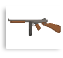 Pixel Thompson Gun Canvas Print