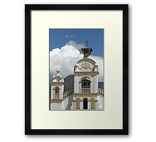 Quiroga Church With Storm Clouds on Mount Cotacachi Framed Print