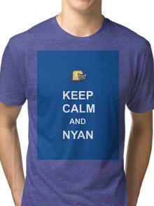 KEEP CALM AND NYAN Tri-blend T-Shirt