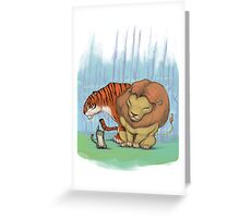 Lion, tiger & kitty. Greeting Card