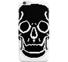 Pixel Skull Black iPhone Case/Skin