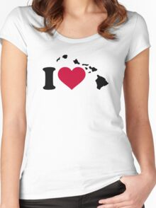 I love Hawaii Women's Fitted Scoop T-Shirt