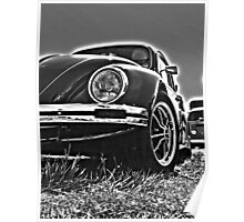 VW Bug (Black and White) Poster