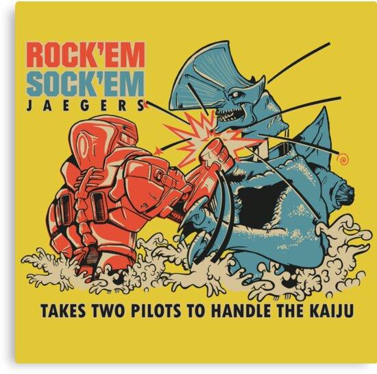 ROCK 'EM, SOCK 'EM JAEGERS by cubik