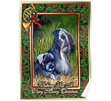 Kerry Blue Terrier Dog Christmas Poster