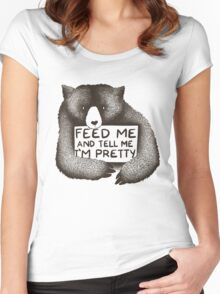 Feed Me and Tell Me I'm Pretty Women's Fitted Scoop T-Shirt