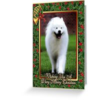 Samoyed Dog Christmas Greeting Card