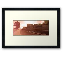 Train in Time Before Framed Print