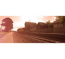 Train in Time Before Photographic Print