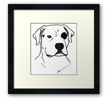The Raw Dog himself Framed Print