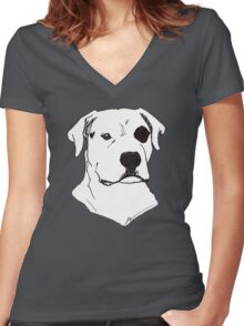 The Raw Dog himself Women's Fitted V-Neck T-Shirt
