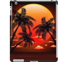 Warm Topical Sunset with Palm Trees iPad Case/Skin