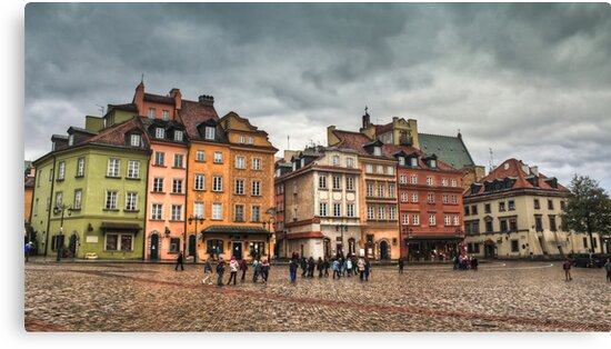 Gloomy Sky Over Warsaw Old Town by pixog
