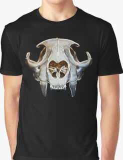 Abstract Cougar Skull Graphic T-Shirt