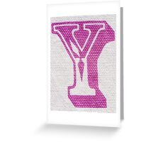 Letter Y Greeting Card