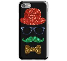 christmas hipster mustache iPhone Case/Skin