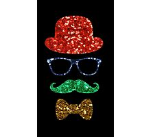 christmas hipster mustache Photographic Print