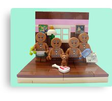 The Gingerbread Family  Metal Print