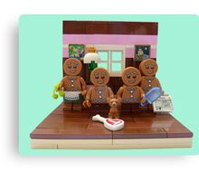 The Gingerbread Family  Canvas Print