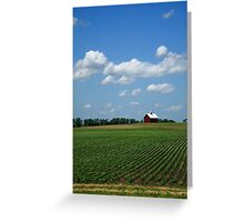 Red Barn and Cornfield Greeting Card