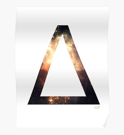 Delta letter space concept Poster