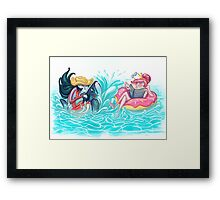 Adventure Time - Marceline & Princess Bubblegum Framed Print