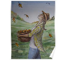 Cowgirl Series: Autumn Shower Poster