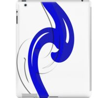 Blue Mirrored Twist iPad Case/Skin
