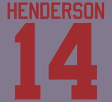 Logan Henderson jersey - red text Kids Clothes