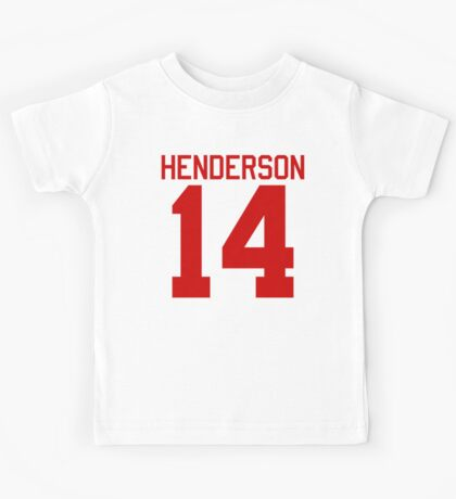 Logan Henderson jersey - red text Kids Tee