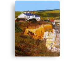 Cuckmere Cottages Canvas Print