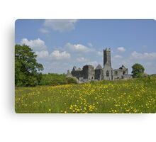 Quin Abbey County Clare Ireland Landmark Scenic Canvas Print