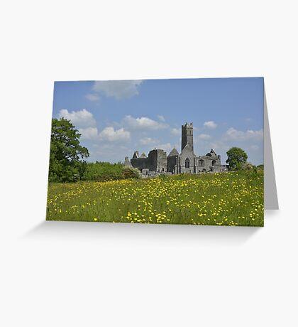 Quin Abbey County Clare Ireland Landmark Scenic Greeting Card