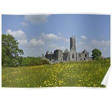 Quin Abbey County Clare Ireland Landmark Scenic Poster