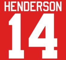 Logan Henderson jersey - white text Kids Clothes