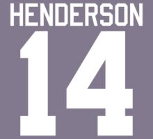 Logan Henderson jersey - white text Kids Clothes