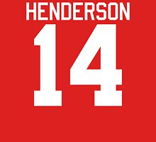 Logan Henderson jersey - white text Womens Fitted T-Shirt