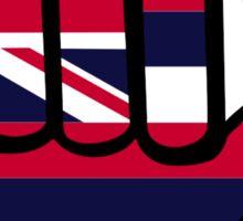 Hawaii flag hand Sticker