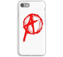 Anarchy Symbol Red iPhone Case/Skin