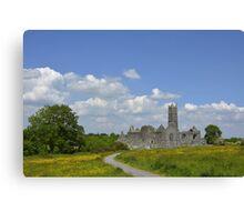 Quin Abbey County Clare Ireland Landmark Scenic Landscape Canvas Print
