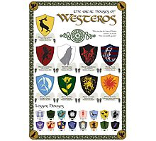 Game of Thrones House Sigils Photographic Print