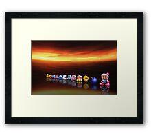 Bomberman - Panic Bomber B pixel art Framed Print