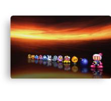 Bomberman - Panic Bomber B pixel art Canvas Print