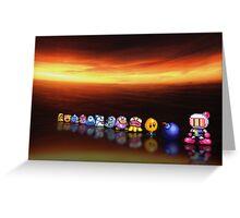 Bomberman - Panic Bomber B pixel art Greeting Card