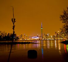 Toronto from island nite by Cristian Gil