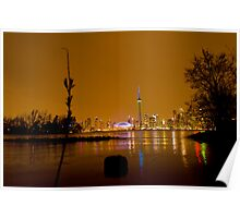 Toronto from island nite Poster