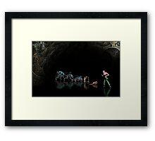 Alien 3 pixel art Framed Print